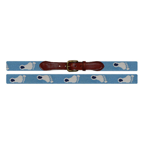 Smathers and Branson UNC North Carolina Tar Heel Needlepoint Belt - Light Blue