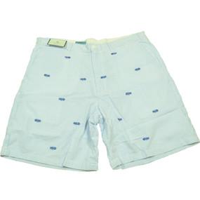 Cisco Embroidered Seersucker Shorts with Bonefish - Blue