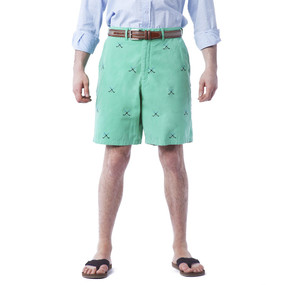 Cisco Embroidered Shorts with Golf Clubs - Sea Glass
