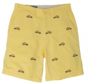 Cisco Embroidered Shorts with Cars - Yellow