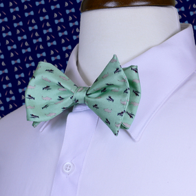 Fly Fishing Bow Tie - Light Green