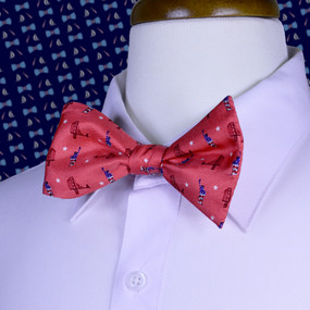 Sea to Shining Sea Bow Tie - Washed Red