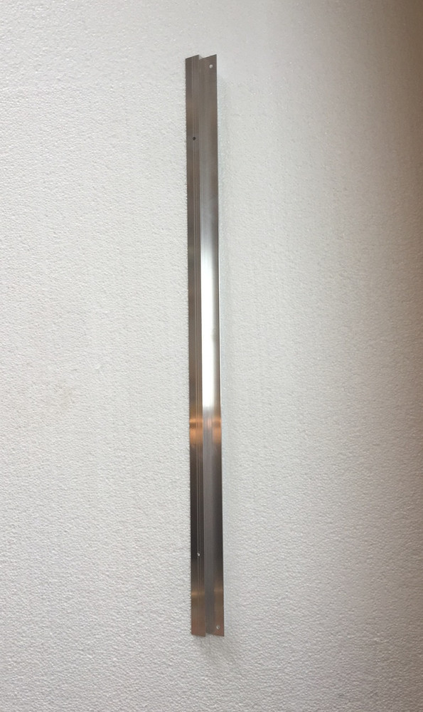 "28"" Extruded Aluminum Channel for XL Drop In Guillotine Closure kits (18"" x 28"")"