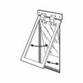 Illustration of use for Heavy Duty Dog Door®