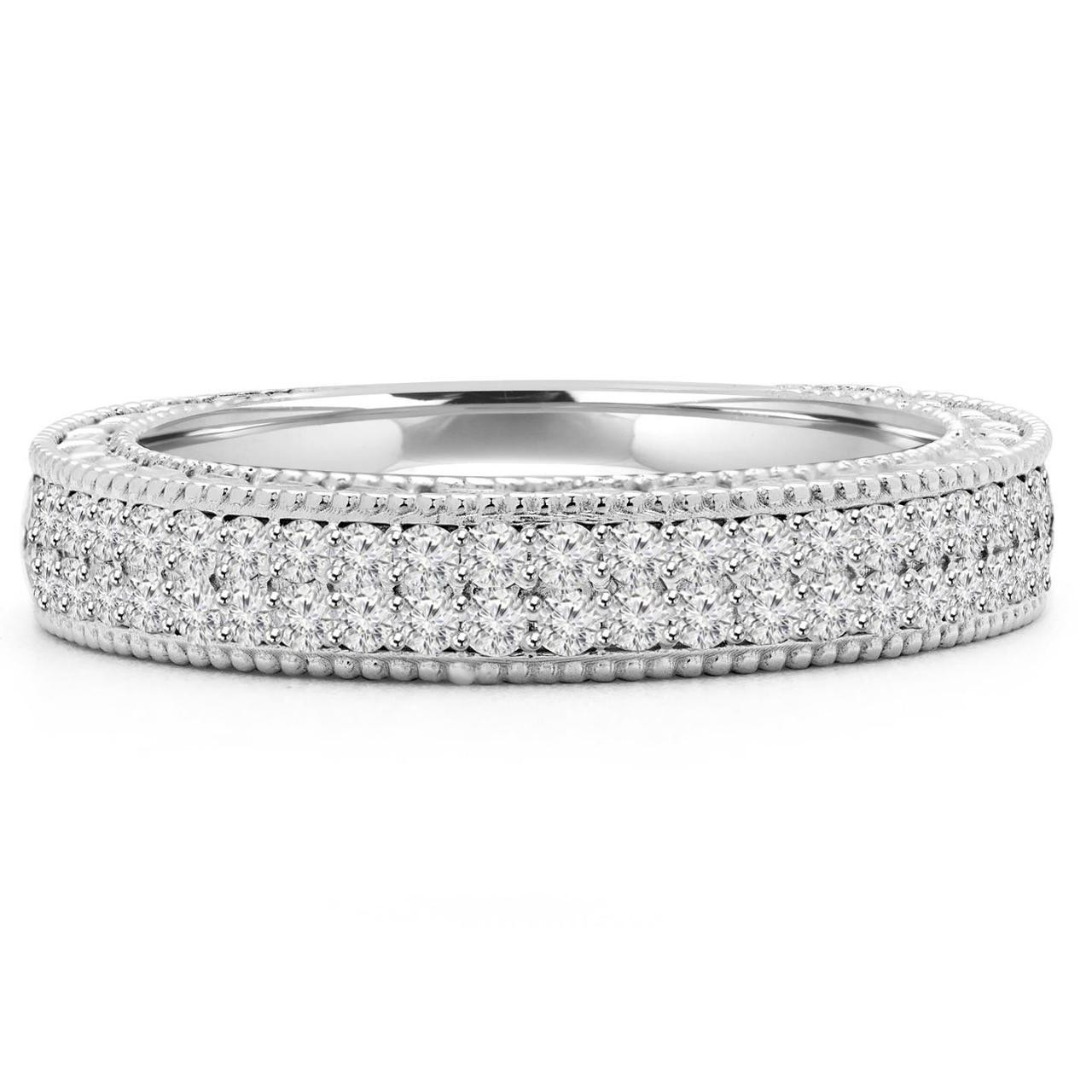 cut multi fashion wedding band ring in