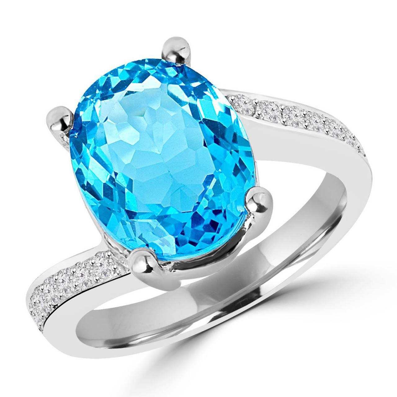 Blue Topaz Stone : Blue topaz cocktail ring bijoux majesty