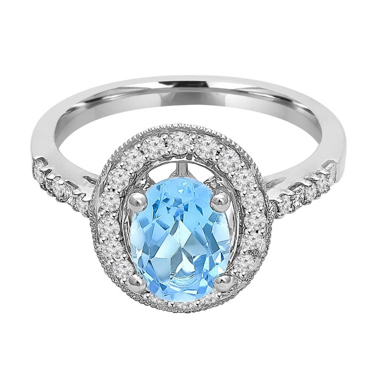 Blue Topaz Stone : Blue topaz rings bijoux majesty