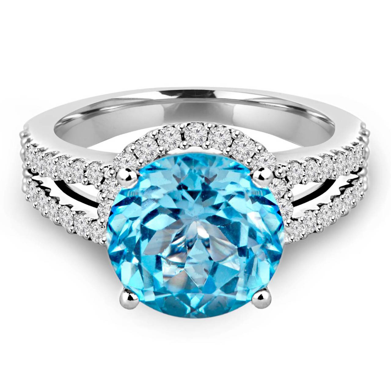 Blue Topaz Stone : Blue topaz gemstone bijoux majesty