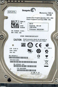 "160GB Seagate Barracuda 7200RPM 16MB 2.5"" SATA Hard Drive ST9160412ASG"