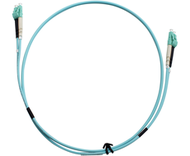 2m Aqua Fibre Optic Patchcord LC-LC OM3