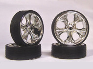 Monster 24s TIKI RIM with ULTRA LOW PRO Tires For 1/24 -1/25 scale