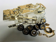 63 IMPALA GOLD PLATED CHASSIS & SHOWTIME PACKAGE ASST 1/24