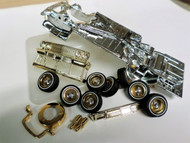 63 IMPALA CHROME PLATED CHASSIS & SHOWTIME PACKAGE ASST 1/24