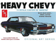 AMT 1970 Heavy Chevy Impala Custom SS Hardtop 3 N 1  Model Kit  1/25 Scale