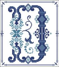 Decorative Blue Alphabet D