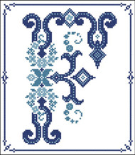 Decorative Blue Alphabet F