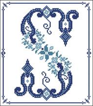 Decorative Blue Alphabet S