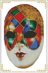 Carnival Masks - 002 Red Blue Right