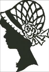 Ladies Hat Silhouette 004