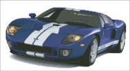 GT40 Car Cross Stitch Pattern