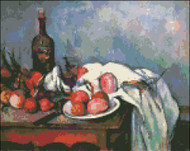 Still Life with Onions by Cezanne