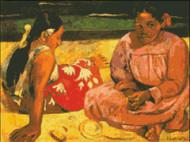 Tahitian Women on the Beach