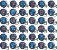 Football Helmets Alphabet