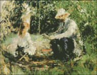 Manet and his Daughter in the Garden