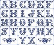 Alphabet Sampler Crowns