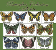 Butterflies Collection (10 Cross Stitch Charts)