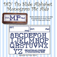 DIY Tin Slide Alphabet Monogram 14c Aida
