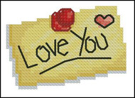 Love You Post It Note