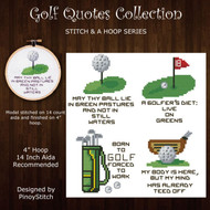 Golf Quotes Mini Pattern