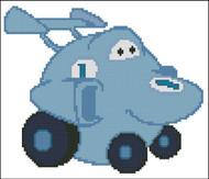 Chubby Race Cars 001 Blue Zoomer