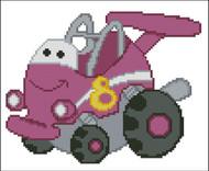 Chubby Race Cars 004 Plum Speedster