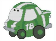 Chubby Race Cars 007 Green Go-Go