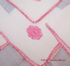 Asian Motif Tea/Card/Bridge Tablecloth & 4 Napkins in Red, Vintage Mid Century Linen Gift Set