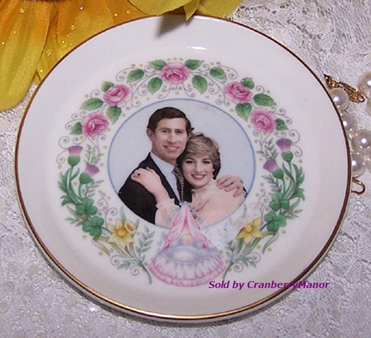 Princess diana prince charles prince william commemorative for Diana dishes