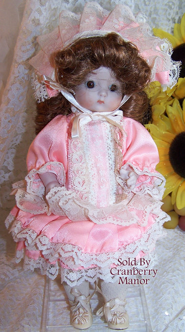 Armand Marseille Just Me 310 Studio Doll Handpainted Reproduction Bisque Porcelain Vintage 1980s Gift