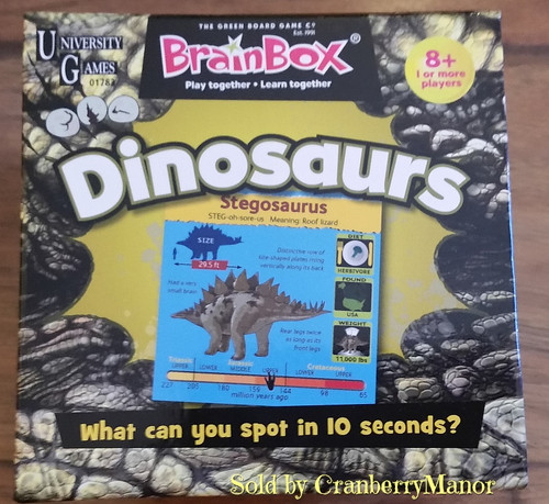 University Games Brainbox Discover Dinosaurs Educational Game - The 10 Minute Brain Challenge