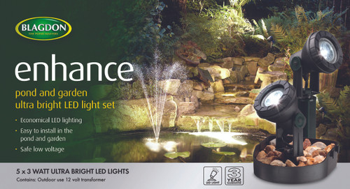 Blagdon Enhance LED Lights 5 x 3 watt