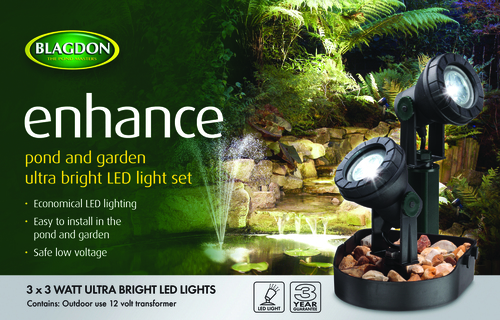 Blagdon Enhance LED Lights 3 x 3 watt