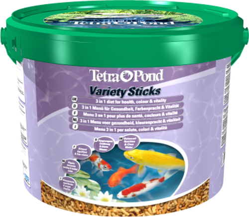 Tetra Pond Variety Sticks 10 Litre Bucket