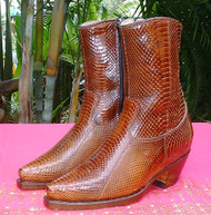 All Snake Skin Low Boots