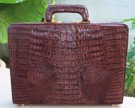 Chacolate Brown Genuine Hornback Crocodile briefcase