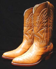 Cowboy Ostrich Boots - Made to Your Measurements