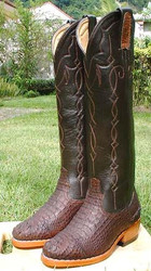 Tall Hornback Crocodile Boots