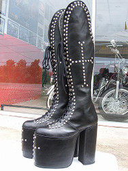 Inspired by the: PETER CRISS BOOTS Reunion Love Gun for Kiss Costume