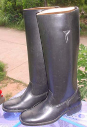 Tall Black Han Solo type boots size US 9 1/2 Euro 43