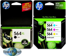 HP 564XL Black + 564 Colors 4-Pack Combo